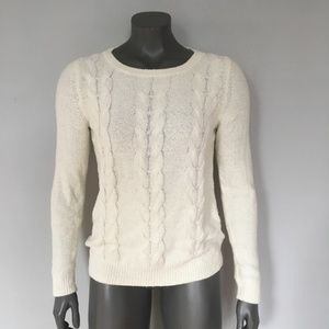 J. Crew Cable scoopneck sweater
